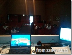 what it looks like from the presenter at #techedafrica